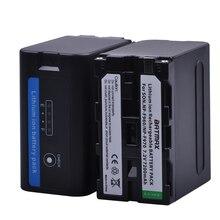 Batmax 7200mAh NP-F970 F960 F970 NP-F960 Battery akku with LED Power Indicators for Sony NP-F550 NP-F770 NP-F750 F960 F970