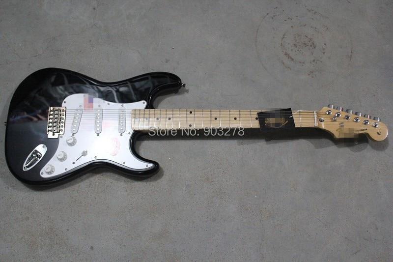 Glisten Nieuwe zwarte ST elektrische gitaar met gratis hardcase, ST04a