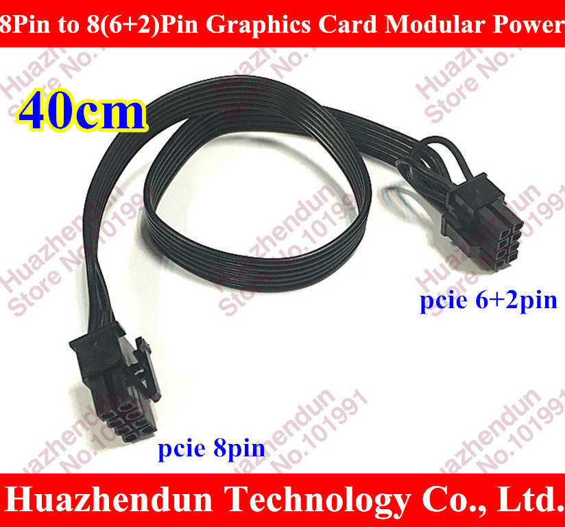 Free shipping by DHL/EMS 12 PCI-E 8Pin to 8(6+2)-Pin Graphics Card Modular Power Supply Cable for Corsair AX1200 18AWG 40CM free dhl ems red sleeved 12 black