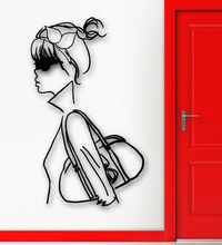Wall Sticker Vinyl Decal Sexy Girl Fashion Style Purse