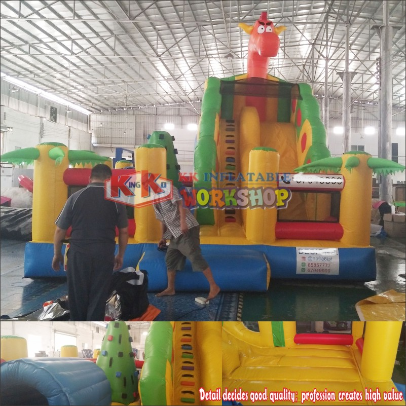 New Style Inflatable Bounce House 0.55mmPVC Dragon