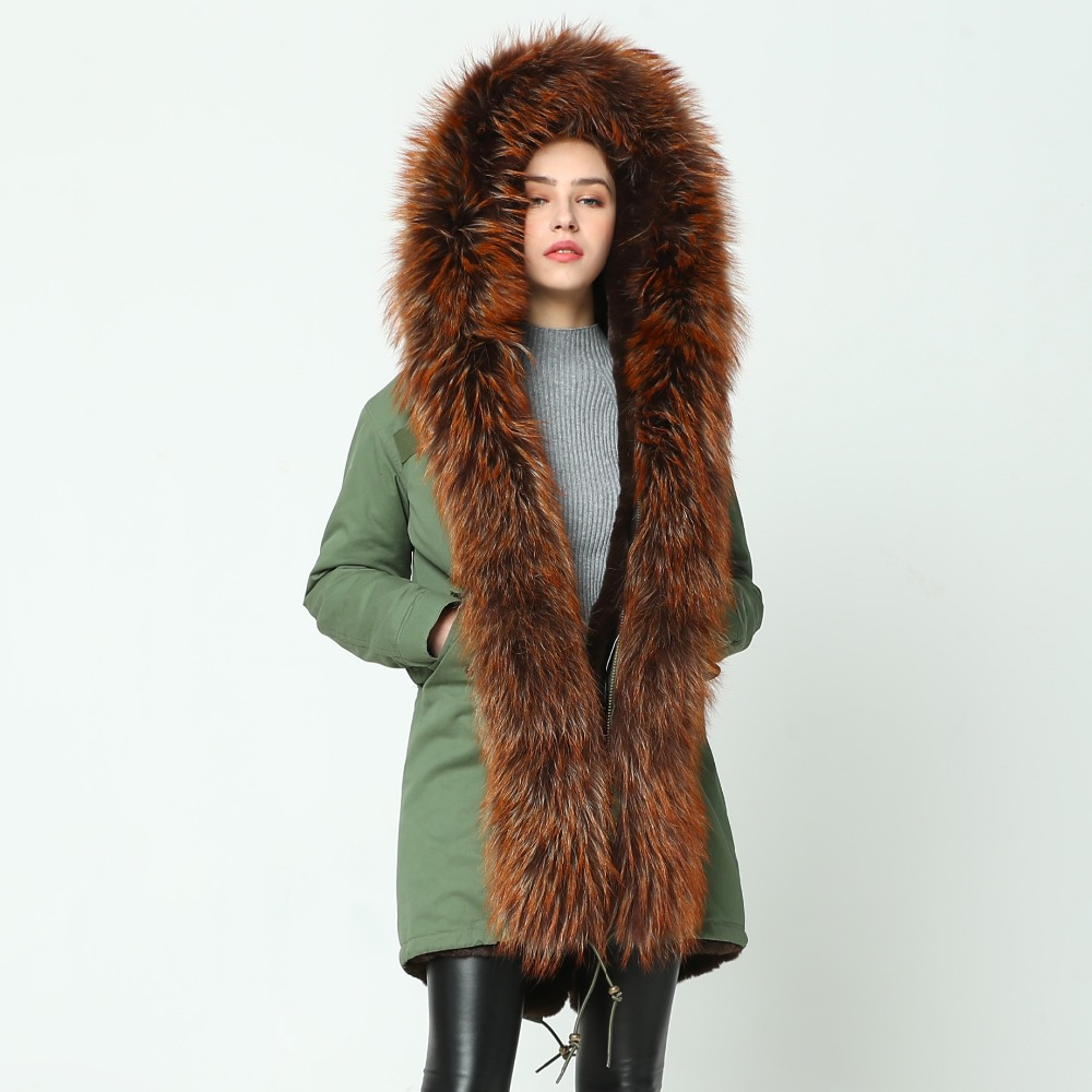Coat Chaud photo photo Fourrure Épais Color De Parka beige Veste 2019 color D'hiver Raton Green Réel Black Manteau Parkas Col Oftbuy Femmes Color Fur Longue Laveur Coat Nouvelle Coat Naturel qSMVLUGpz