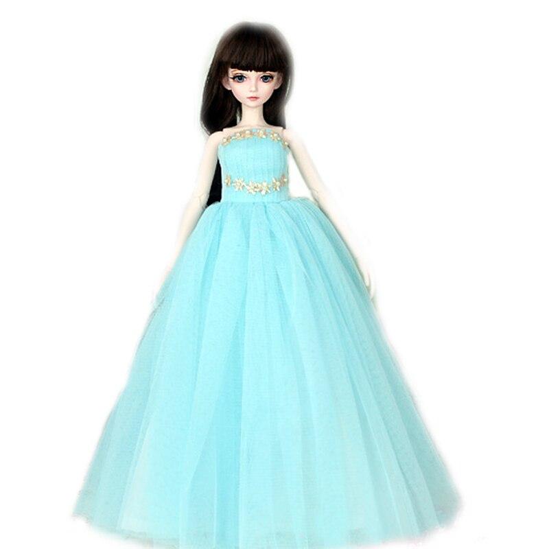 [wamami] 400# Blue Tube Top Dress/Wedding Dress For 1/4 MSD DOD AOD DZ BJD Doll