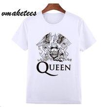 4546202d6 Asian Size FREDDIE MERCURY Heavy Rock top 100 Band Queen T T-shirt Short  sleeve O-Neck Tshirt For Men Women HCP627