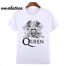 Asian Size FREDDIE MERCURY Heavy Rock top 100 Band Queen T T-shirt Short sleeve O-Neck Tsh