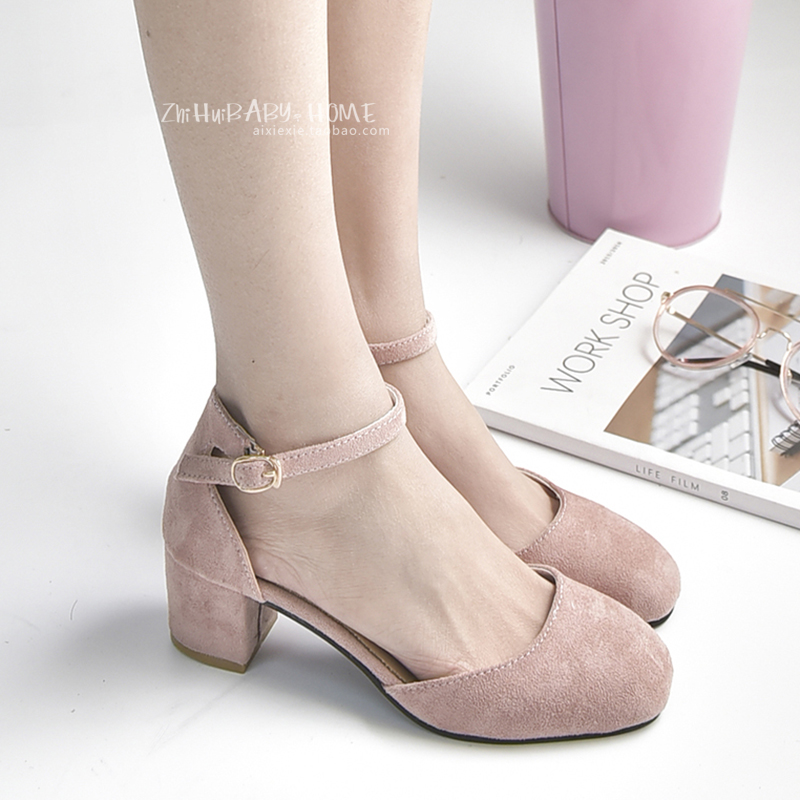 2017 Summer Medium High Heel Pumps Square Toe Strap Young Lady Autumn Shoes Square Heel Marry Jean Low Heel Shoes 3.5 cm heel selens pro 100x100mm 12nd square medium