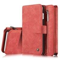 CaseMe Brand For Iphone 6 6s 7 Plus Flip Leather Case Zipper Mini Man Purse Wallet