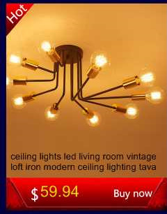modern Ceiling Lights industrial lamps luminaria de teto e27 for Living Room bedroom vintage Ceiling lamp Home Lighting Fixtures