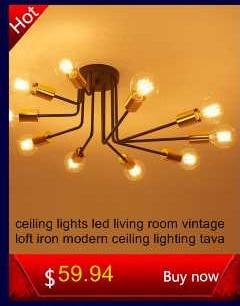 modern Ceiling Lights industrial lamps luminaria de teto e27 for Living Room bedroom vintage Ceiling lamp Home Lighting Fixtures