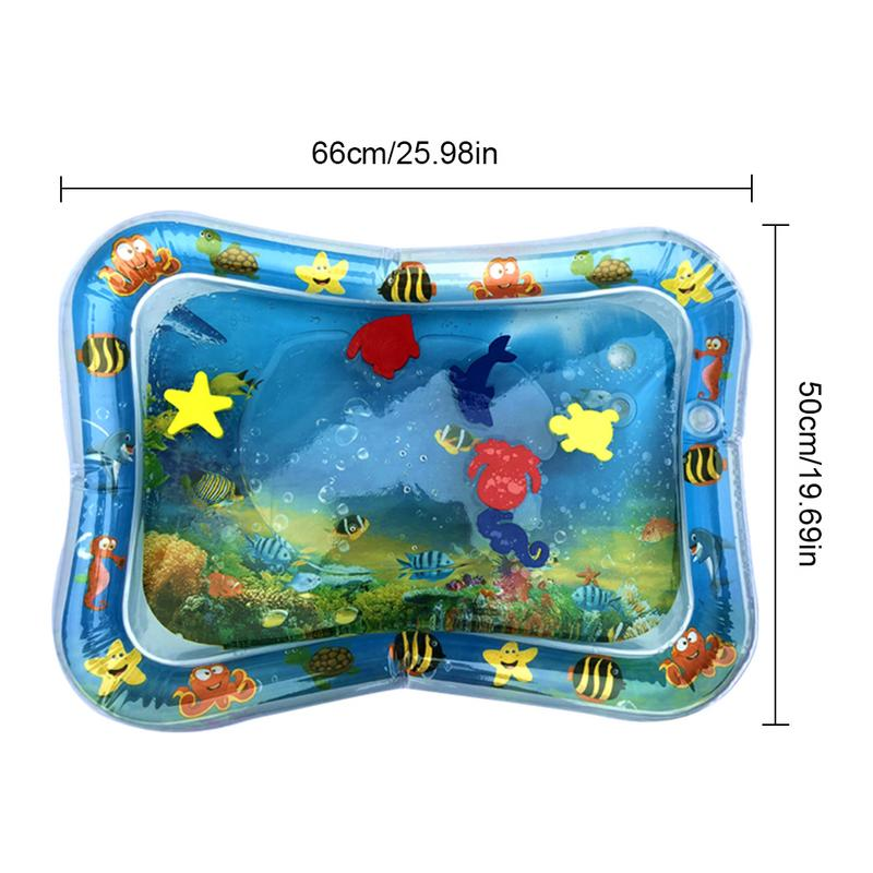 Baby Inflatable Water Playmat For Kids Baby Crawling Mat Toddler Fun Activity Play Center For Sensory Stimulation Motor Skills