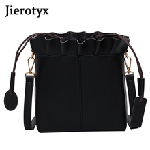 JIEROTYX Leather Shoulder Bag Girls New Design Female Bags Handbag Ladies Phone Pocket Tassel Messenger Taschen Girl