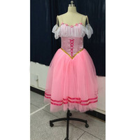 Custom Made Classical Romantic Ballerina Dance Costumes Long Ballet Tutu Soft Tulle Dress Pink Or Other