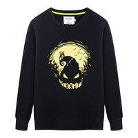 Mens Autumn Winter Fashion Pullover Hoodie Sweatshirt The Nightmare Before Christmas Jack Skellington Printed Hoodie