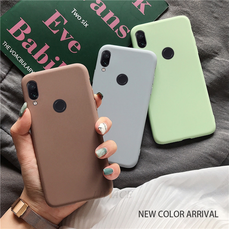 matte silicone phone case on for huawei <font><b>honor</b></font> play <font><b>8x</b></font> max 8A 8C view 20 v20 8 9 10 lite 7x 7s 7a 7c pro v10 candy color <font><b>cover</b></font> image