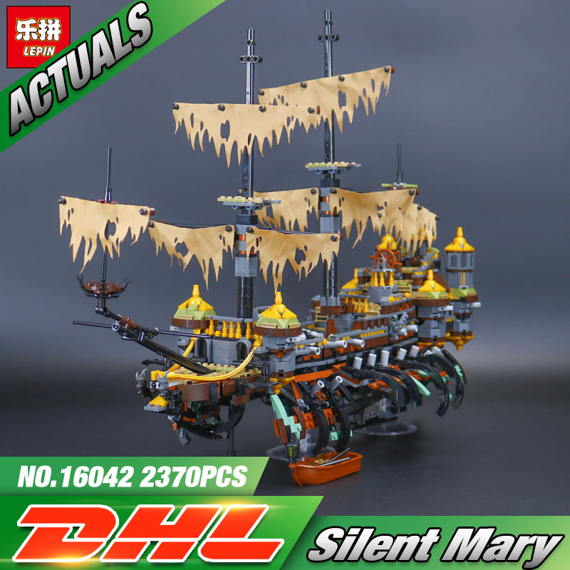 Lepin 16042 2344Pcs New Pirate Ship Series The Slient Mary Set Children Educational Building Blocks Bricks Toys Model Gift 71042 pirate ship metal beard s sea cow model lepin 16002 2791pcs building blocks kids bricks toys for children boys gift compatible