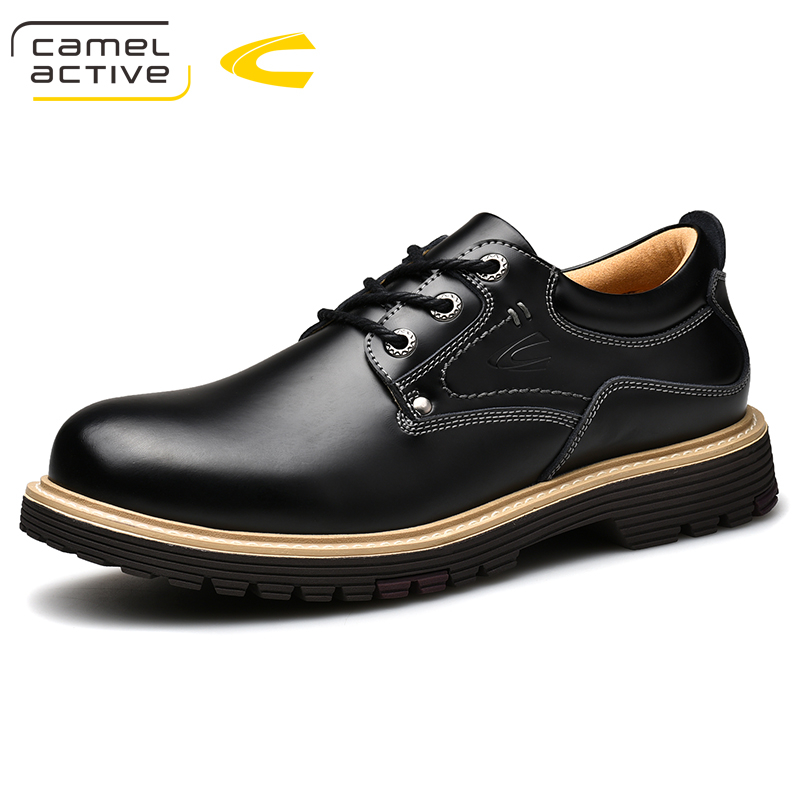 Camel Active New Genuine Leather Men Casual Shoes Luxury Brand 2018 New Arrive Oxfords Shoes High Quality Trendy Shoes For Men camel active new men genuine leather casual shoes business men shoes luxury brand spring male footwear sneakers big size shoes