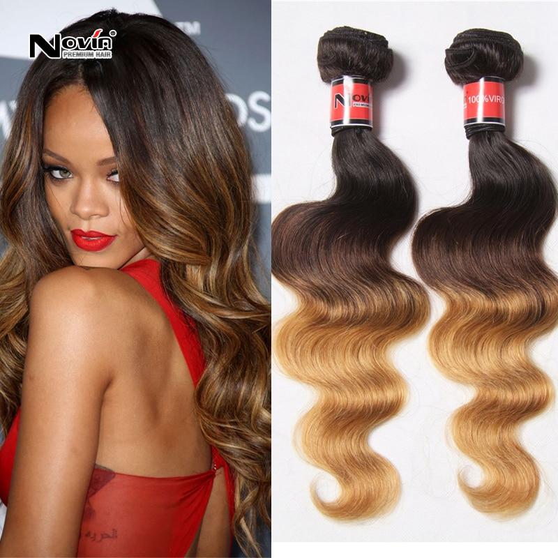 Ombre Brazilian Virgin Hair Body Wave Ombre 3 Tone #4 #30 #27 Ombre Hair  Extensions 3pcs Bundles Light Brown Human Hair Weave On Aliexpress.com |  Alibaba ... Amazing Design