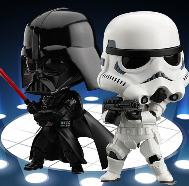 Star Wars Action Figure Nendoroid Darth Vader Empire Stormtrooper Toys 100mm PVC Anime Star Wars The Force Awakens Figure Toy star wars the black series darth vader stormtrooper lightsaber pvc action figure brinquedos figuras anime collectible kids toys