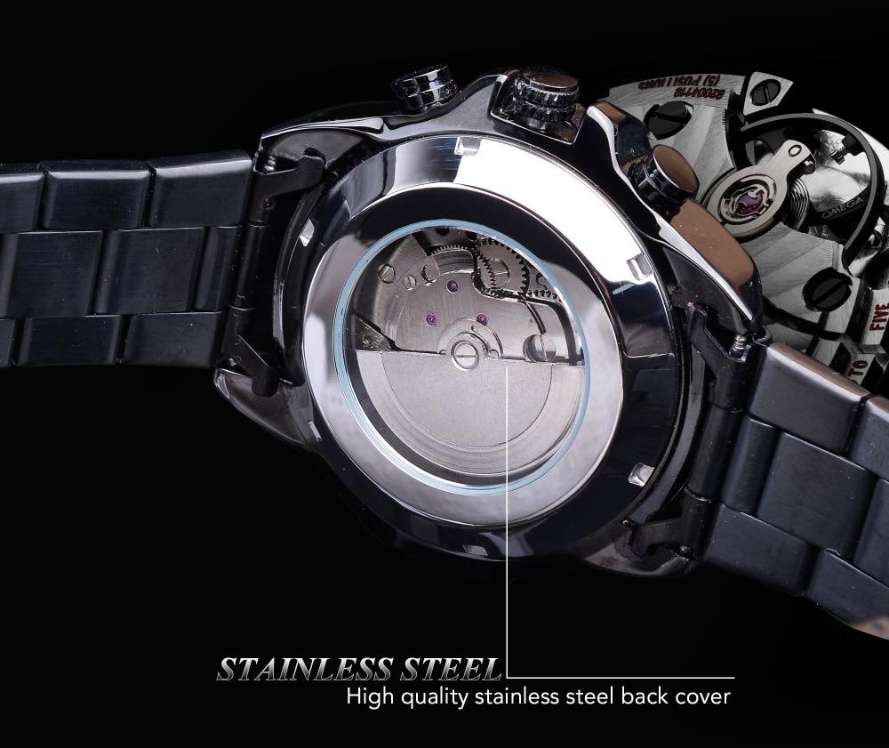 HTB1 NXHbifrK1RjSspbq6A4pFXay Forsining Three Dial Calendar Stainless Steel Men Mechanical Automatic Wrist Watches Top Brand Luxury Military Sport Male Clock