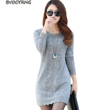 2018 New Hot Women's Spring Autumn Long Sleeve Knit Casual Sweater Female Plus Size Sweaters For Women pullovers Sweater A0117
