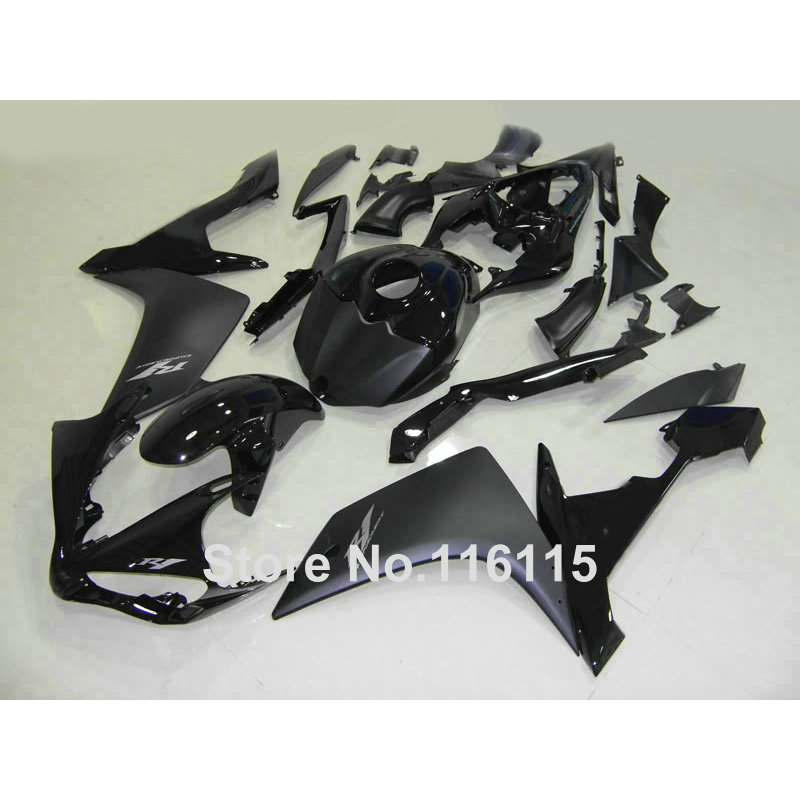 Injection molding full fairing kit for YAMAHA YZF R1 2007 2008 new aftermarket YZF-R1 07 08 all black fairings set QZ24 injection molding motorcycle parts for yamaha yzf r1 2007 2008 fairings set yzf r1 07 08 all matte silver abs fairing kit qz54