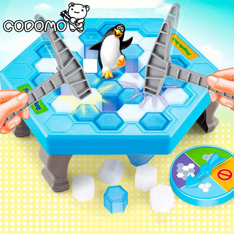 Ice Breaking Save Penguin Game Cartoon Penguin Trap model building blocks Kids Family interactive educational desk toys oyuncak interactive ice breaking table penguin trap children funny game penguin trap activate entertainment toy family fun game with box
