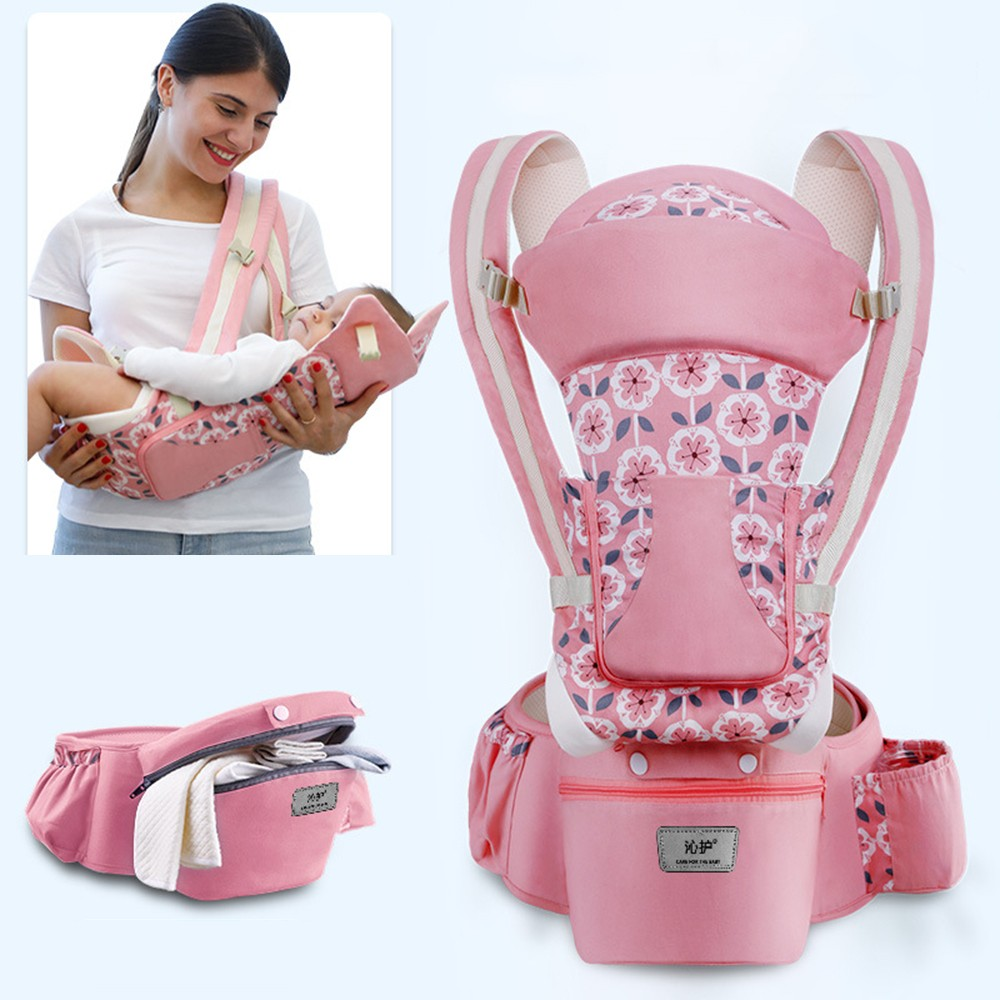 0-48M Ergonomic Baby Carrier Infant Baby Hipseat Carrier Front Facing Baby Wrap Sling For Travel 23