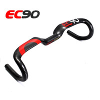 EC90 Carbon Fiber Highway Bicycle Handlebar Black Red Glossy Suface Road Bike Handlebar 31 8 400