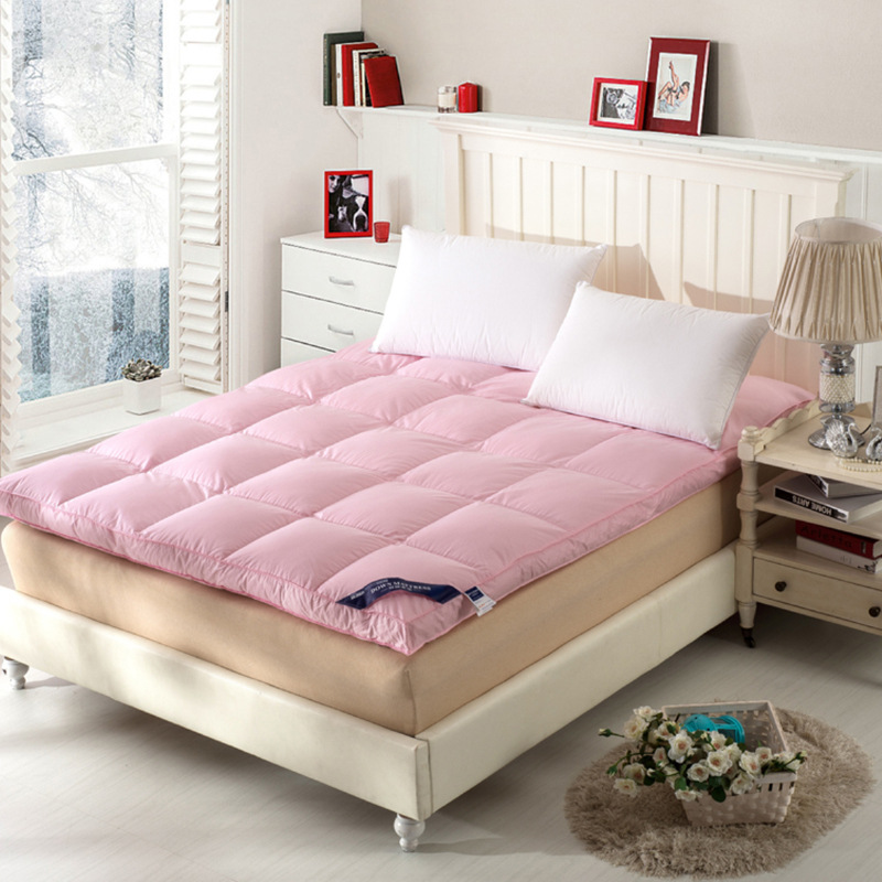 Image 2 - Foldable mats luxury goose Down Mattress Topper 100% cotton shell 100% goose down filling quilted-in Mattresses from Furniture