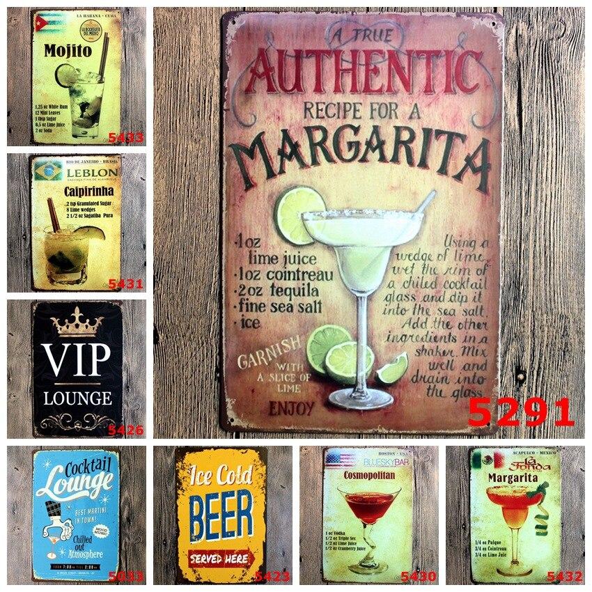 Online Shop 5pcs/lot Beer Poster Vintage Bar Signs Pub Shop Metal ...