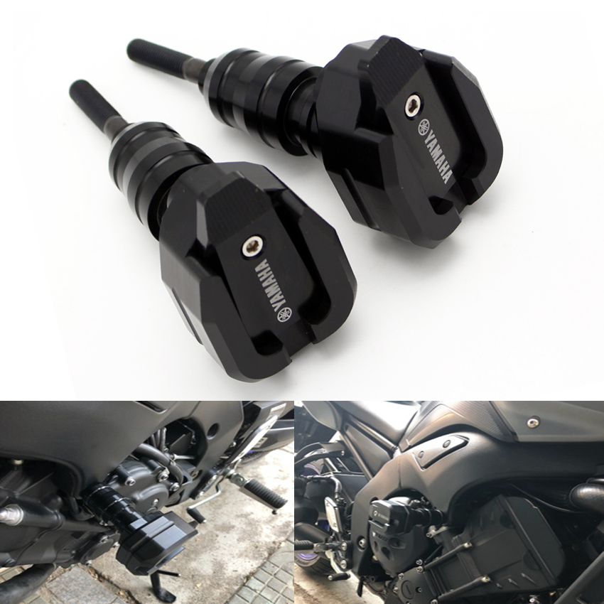 Hot High Quality Motorcycle Crash Protector CNC Engine Cover Frame Sliders For YAMAHA FZ1 FZ1N FZ6 FZ6N FZ8 FZ8N MT03 R3 MT09-in Falling Protection from Automobiles & Motorcycles