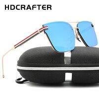 Sıcak Satmak HDCRAFTER Unisex Moda Güneş Gözlüğü Büyük Çerçeve Sürüş için Açık UV400 Güneş Gözlük