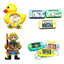 1 шт., мультяшное кольцо для воды, Детская портативная игровая машина, интерактивные игры, игрушки для развития мышления ребенка, игрушки умения
