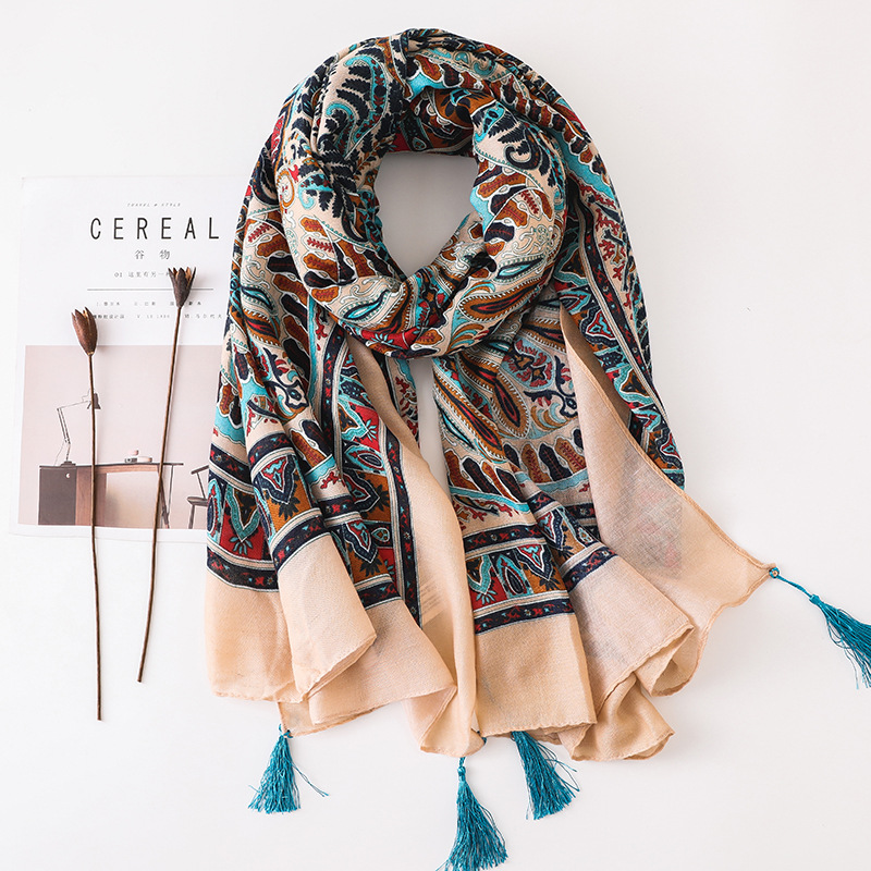 Ethnic Women Large   Scarf   Soft Totem Print Long Shawl Female Fashion Neck   Scarf   Blanket   Wrap   Pashmina NEW [6602]