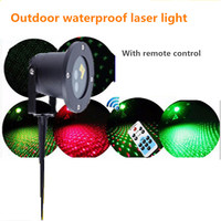 RG Waterproof Latest Remote Control Outdoor Christmas Lights Projector Garden Lawn Landscape Decorative Lights