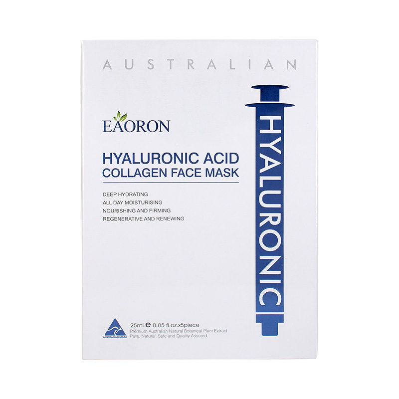 Eaoron Hyaluronic Acid Collagen Hydrating Face Mask 5PCS Moisturizing Mask Australia Hottest Product Now Skin firmness & glow elizavecca witch piggy hell pore control hyaluronic acid 97