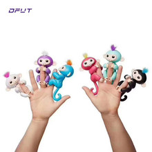happy monkey pack Finger baby Monkey Rose Interactive Baby Pet Intelligent Toy Tip Monkey Smart Electronic Pet finger monkey(China)