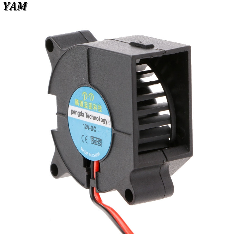 FSY 2.5cm DC 5V 0.15A Plastic 5 Blades Cooling Fan Cooler Black New-Sky-View