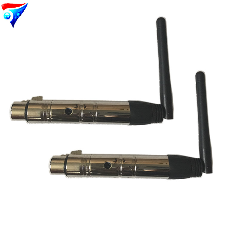 2pcs/lot Free Shipping DMX512 DMX Wireless system Receiver 2.4G for LED stage light control Wireless transceiver new restaurant equipment wireless buzzer calling system 25pcs table bell with 4 waiter pager receiver