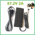 67.2V2A 67.2V 2A li-ion battery charger for Wheelbarrow Electric self balancing unicycle scooter XLRF XLR 3 recharger Freeshipp