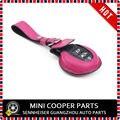 Новый Кожаный Материал Основных Охраняемых Мини Рэй Стиль Ключа Автомобиля Сумка Для mini cooper F56 F55 Только (1 Шт./компл.)