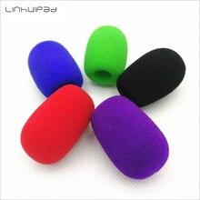 Linhuipad 10pcs Colorful Foam windscreen mic windshields quality foam cover for PC headset microphones 11mm hole 40mm length