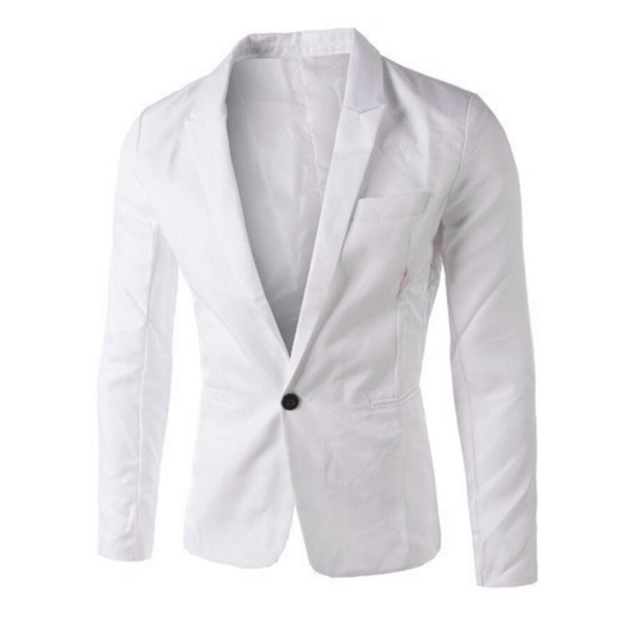 Nieuwe collectie Mannen Pak Blazer Mannen Effen Kleur Modieuze Toevallige Blazer Een Knop Blazer Suits jacket bruidsjonkers jasje