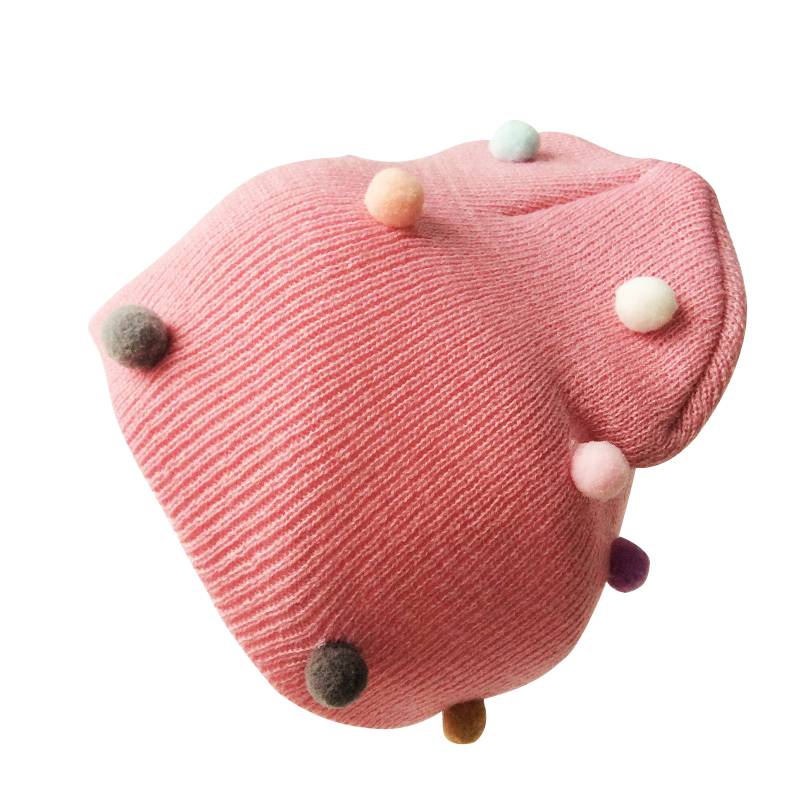 Baby Caps Crochet Kids Girls Pompom Hat Winter Beanie Hats For Girls Children Hats Caps