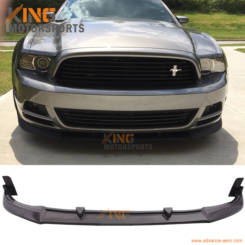 2013 Mustang Front Bumper >> Fit For 2013 2014 Mustang V6 V8 Cv Style Pu Front Bumper Lip Spoiler