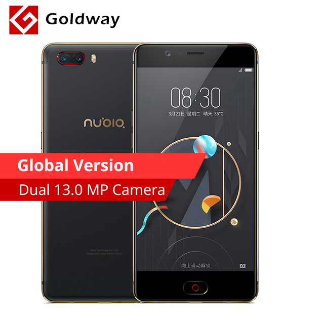 "Global Version Nubia M2 4GB RAM 64GB ROM Mobile Phone Snapdragon 625 Octa Core 5.5"" FHD 4G LTE 13.0MP+13.0MP Dual Rear Camera"