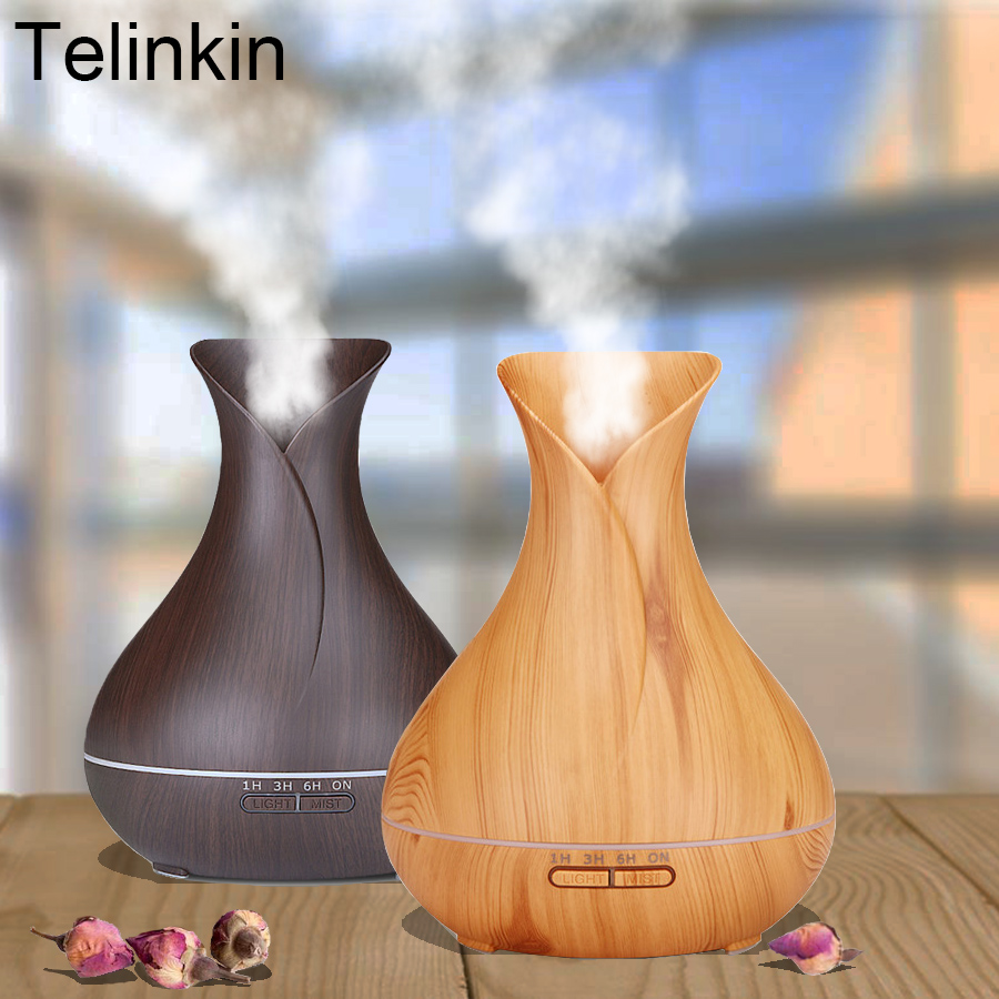 TELINKIN 400ml Aroma Essential Oil Diffuser Ultrasonic Air Humidifier Air Purifier mist maker Essential oils diffuser for Office usb mini cartoon cat humidifier with night lamp car vehicle animal silent air purifier aroma diffuser mist maker essential oils