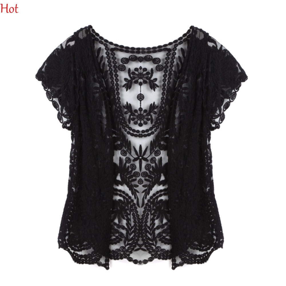 Aliexpress.com : Buy Summer Style Women Shirts Hollow Out Lace ...
