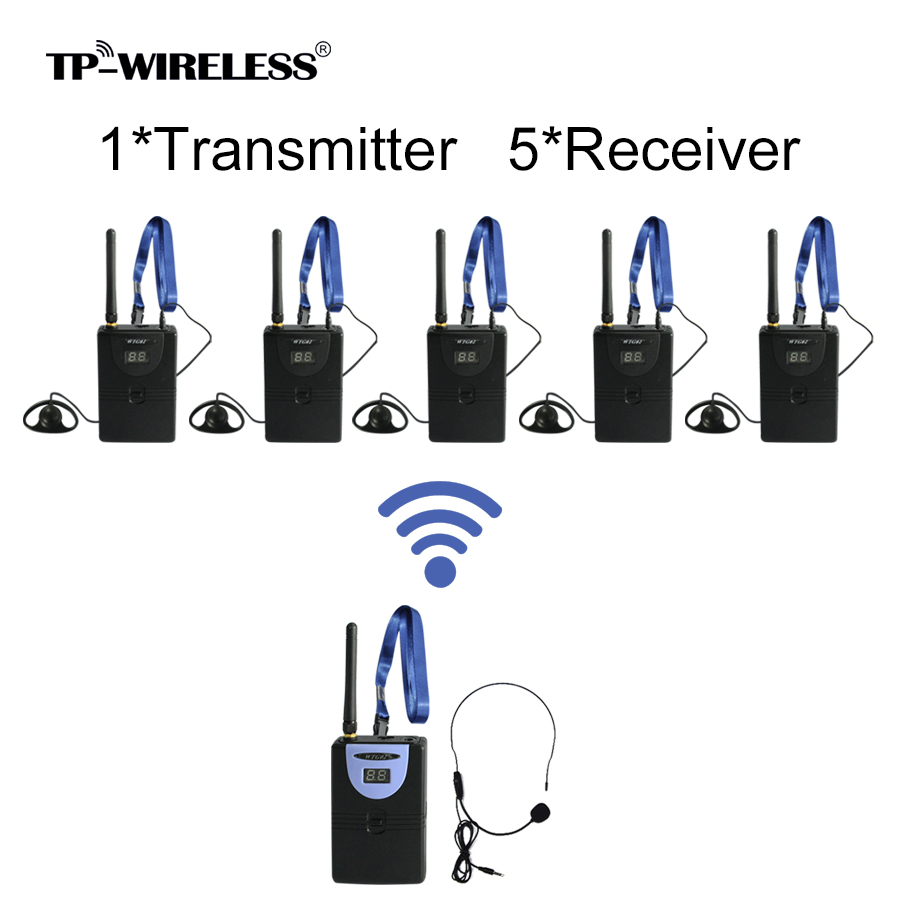 TP-WIRELESS 2,4-GHz-Audio-Tour-Guide-System Drahtloses - Tragbares Audio und Video