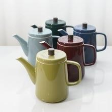 Японский ретро имитация эмали холодный чайник кофейник чайник с фильтром из нержавеющей стали глазурь имитация эмали холодный чайник